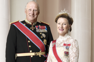 Small big their majesties king harald and queen sonja