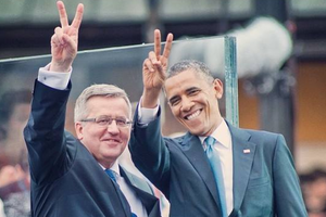 Small big barack obama komorowski poland warsaw nportal.no