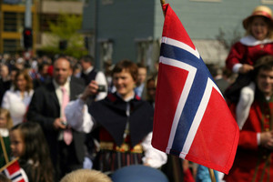 Small flag norway people