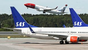 Small sas strike scandinavia airlines