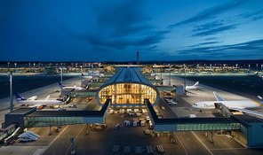 Small oslo airport terminal wikimedia commons